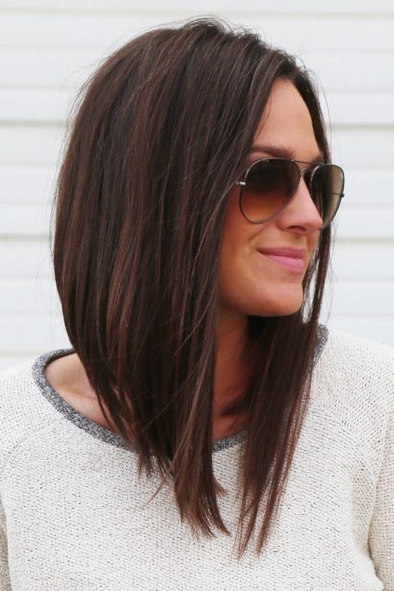 2017 Angled Long Haircuts Regarding Best 25+ Long Angled Haircut Ideas On Pinterest | Long Angled Hair (View 2 of 15)