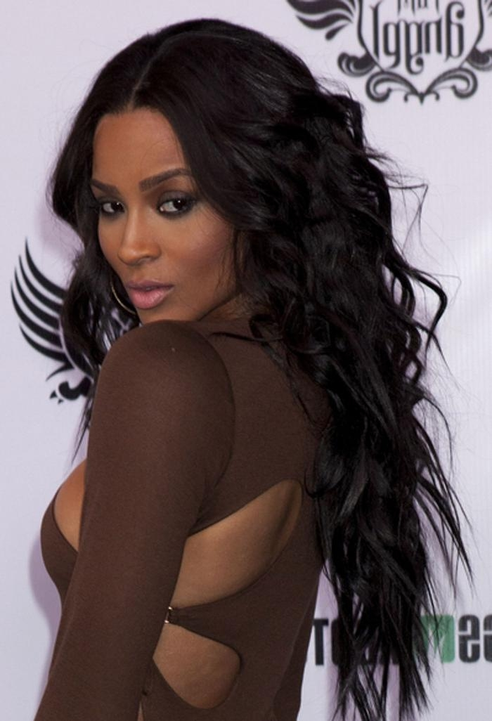 2017 Black Girl Long Hairstyles Regarding Long Hair With Bangs (View 1 of 15)