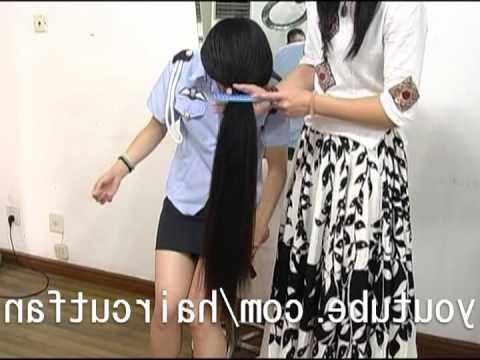 2017 Chinese Long Haircuts With Regard To 刈り上げ 26 ☆ 超ロングヘア Super Long Hair Haircut 断髪 – Youtube (View 3 of 15)