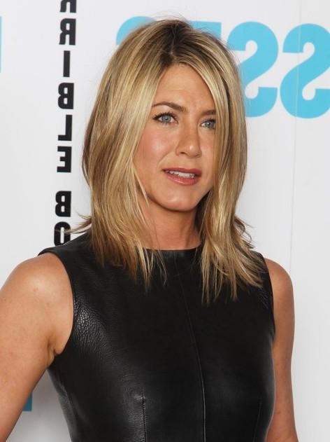 2017 Jennifer Aniston Long Layered Bob Hairstyles Inside Jennifer Aniston Long Bob Hairstyle: 2012 Hair Trends – Hairstyles (View 1 of 15)
