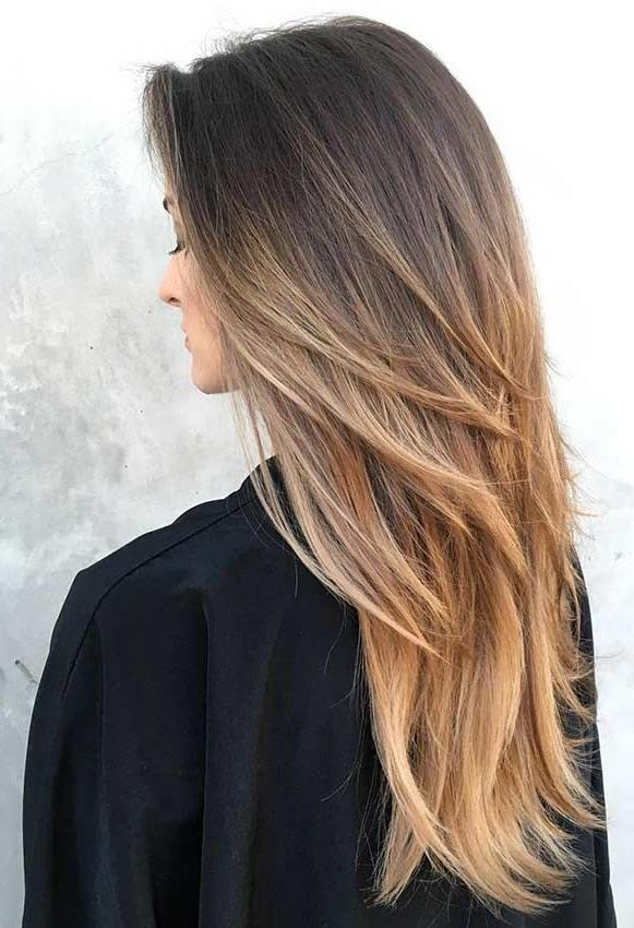 2017 Long Haircuts In Layers Pertaining To Best 25+ Layered Haircuts Ideas On Pinterest | Layered Hair, Long (View 1 of 15)