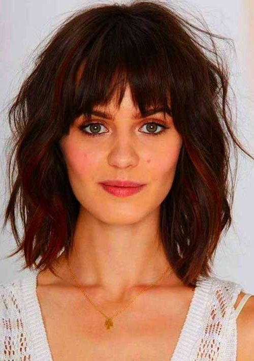2017 Long Haircuts With Bangs For Round Faces Pertaining To 20 Haircuts With Bangs For Round Faces | Hairstyles & Haircuts (View 1 of 15)