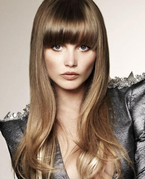 2017 Long Hairstyles For Round Faces With Bangs With Regard To Hairstyles Ideas: Long Hairstyles With Bangs For Round Faces (View 7 of 15)
