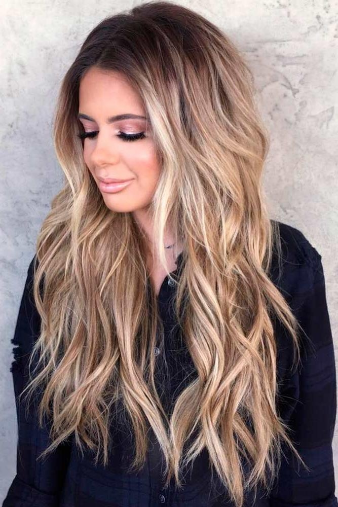 2017 Long Hairstyles Without Bangs Inside Long Hairstyles : Layered Long Hairstyles Without Bangs The (View 9 of 15)