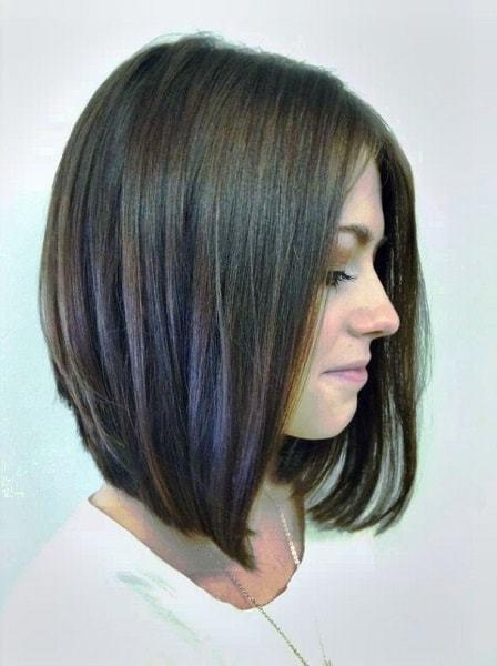 2017 Medium Angled Bob Hairstyles Inside 25 Best Long Angled Bob Hairstyles We Love – Hairstylecamp (View 1 of 15)