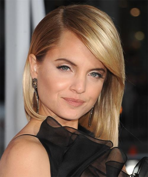 2017 Mena Suvari Shoulder Length Bob Hairstyles In Mena Suvari Medium Straight Formal Bob Hairstyle – Medium Blonde (View 2 of 15)