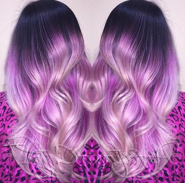 2017 Purple Long Hairstyles Regarding 20 Gorgeous Pastel Purple Hairstyles For Short, Long And Mid (View 1 of 15)