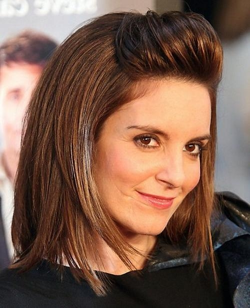 Featured Photo of Tina Fey Shoulder Length Bob Hairstyles