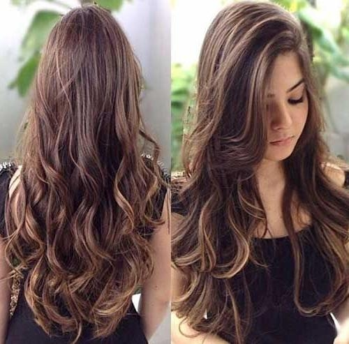 2018 Brunette Long Haircuts In 539 Best Beauty Hair Long & Loose Images On Pinterest | Hairstyles (View 3 of 15)