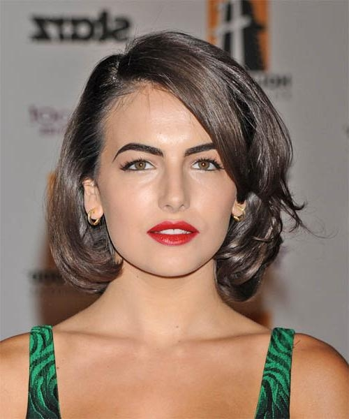 2018 Camilla Belle Shoulder Length Bob Hairstyles Throughout Camilla Belle Medium Wavy Formal Hairstyle (View 1 of 15)