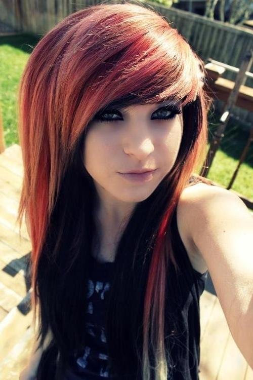 2018 Emo Long Hairstyles Inside Best Emo Hairstyle For Girls With Long Hair | Styles Weekly (View 13 of 15)