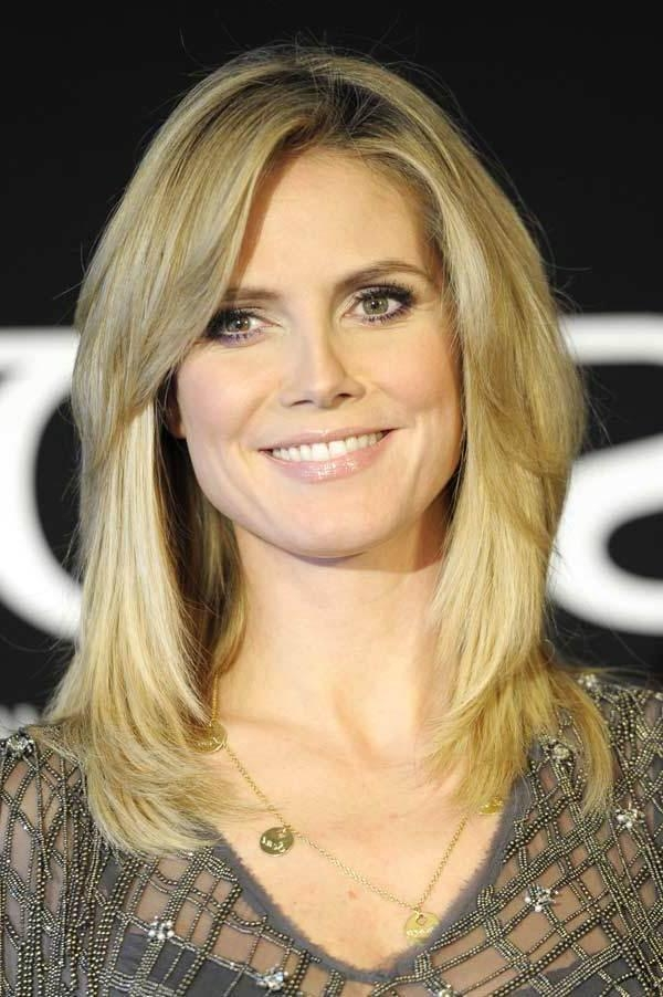 2018 Heidi Klum Shoulder Length Bob Hairstyles With Regard To Heidi Klum Shoulder Length Bob Hairstyles  (View 2 of 15)