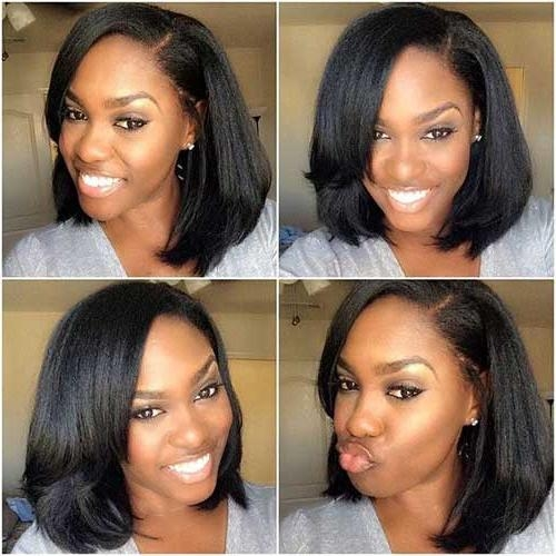 2018 Long Haircuts For Black Women Pertaining To 20 Long Bob Hairstyles For Black Women | Bob Hairstyles (View 3 of 15)