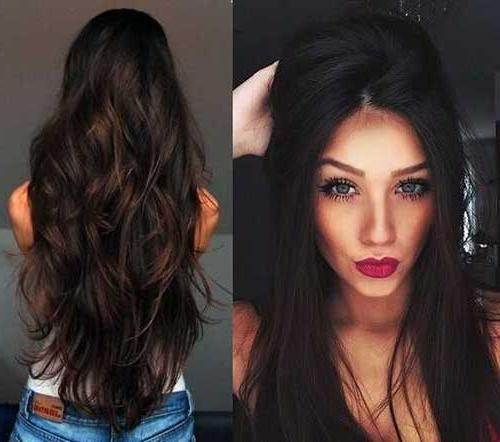 Photo Gallery of Long Haircuts For Brunettes (Viewing 7 of 15 Photos)