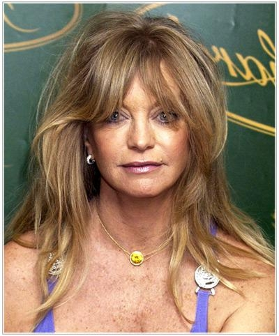 2018 Long Hairstyles For Mature Women For Goldie Hawn's Long Hairstyles For Older Women | Thehairstyler (View 5 of 15)