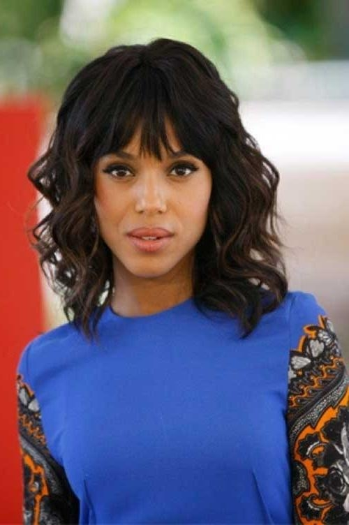 2018 Long Hairstyles With Bangs For Black Women Within 15 New Short Hairstyles With Bangs For Black Women | Short (View 2 of 15)
