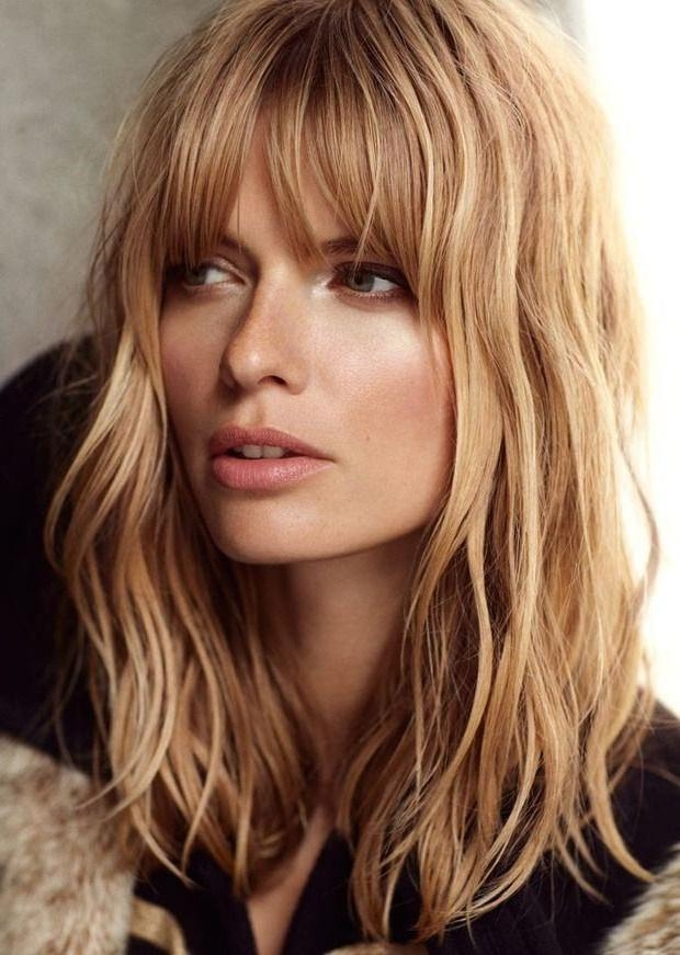 2018 Long Hairstyles With Bangs For Oval Faces Within Best 25+ Oval Face Bangs Ideas On Pinterest | Brunette Bangs (View 3 of 15)