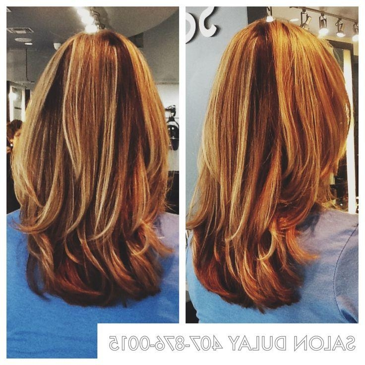 2018 Long Hairstyles With Layers And Highlights Within 11 Best Hair Cuts For Round Faces Images On Pinterest | Victoria (View 2 of 15)