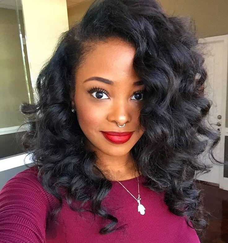 2018 Natural Long Hairstyles For Black Women For Best 25+ African American Hair Ideas On Pinterest | African (View 9 of 15)
