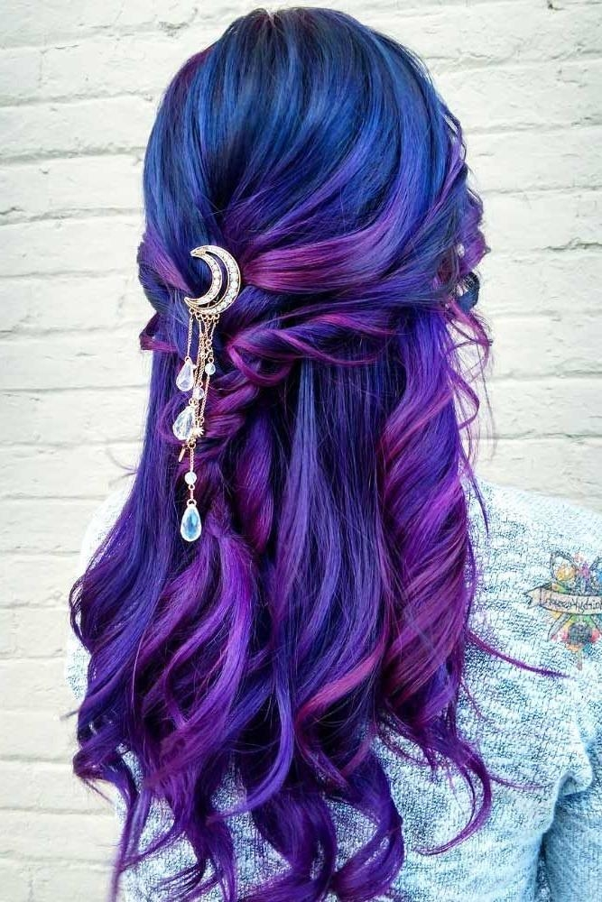 2018 Purple Long Hairstyles Throughout Best 25+ Purple Hair Styles Ideas On Pinterest | Bright Hair (View 2 of 15)