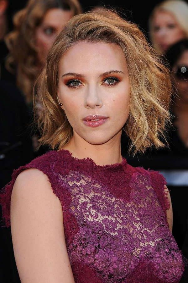 2018 Scarlett Johansson Asymmetrical Choppy Bob Hairstyles Throughout 10+ Inverted Bob Hairstyle Designs, Ideas (View 3 of 15)