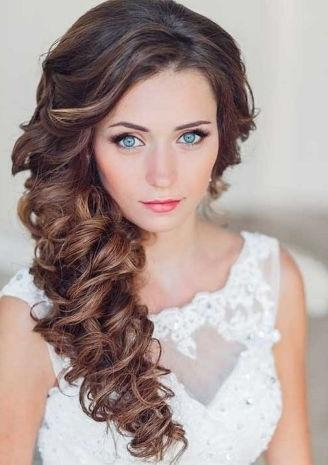 2018 Side Long Hairstyles Pertaining To Best 25+ Side Hairstyles For Wedding Ideas On Pinterest | Side (View 2 of 15)