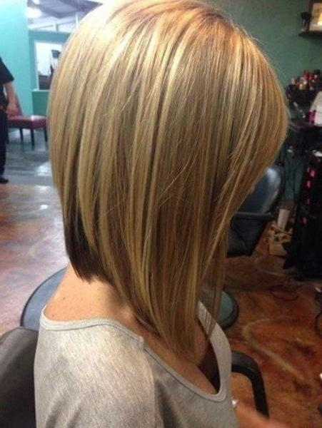 2018 Stacked Long Haircuts Inside Long Stacked Bob Hairstyle Front And Back View Linehaircut Long (View 5 of 15)