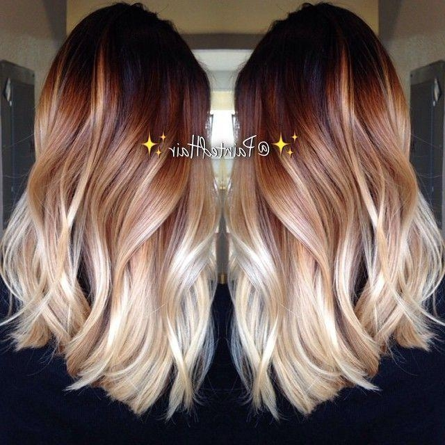 2018 Two Tone Long Hairstyles With Regard To Best 25+ Two Toned Hairstyles Ideas On Pinterest | Bob Hair  (View 4 of 15)