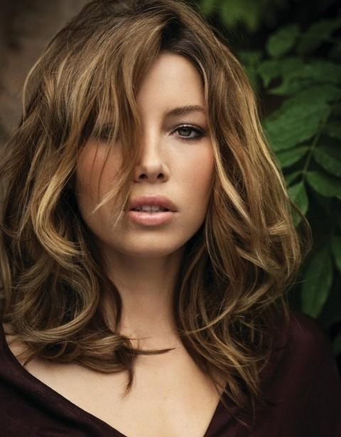22 Jessica Biel Hairstyles – Pretty Designs For Well Known Jessica Biel Shoulder Length Bob Hairstyles (View 2 of 15)