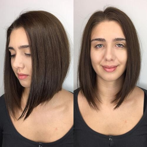 24 Best Long Bob Haircuts & Hairstyles (Updated For 2017) For Bob Long Hairstyles (View 3 of 15)