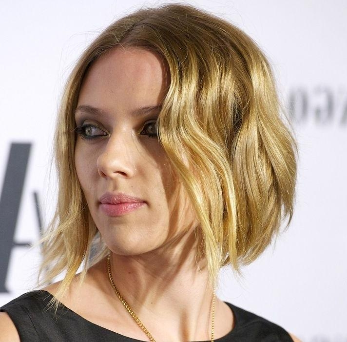 "25 Best Short Hair ""due"" Images On Pinterest Pertaining To Well Known Scarlett Johansson Asymmetrical Choppy Bob Hairstyles (View 4 of 15)"