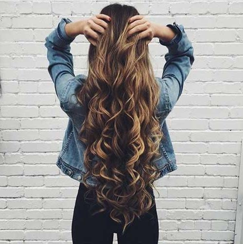 30+ Cute Long Curly Hairstyles | Hairstyles & Haircuts 2016 – 2017 With Regard To Long Hairstyles From Behind (View 2 of 15)