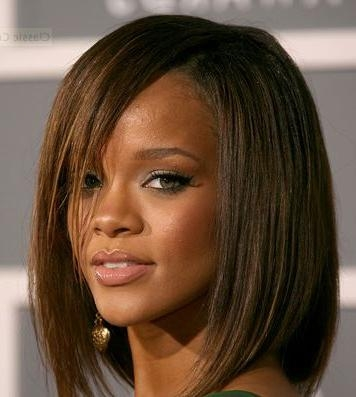 32 Best One Length Above The Shoulders Images On Pinterest Pertaining To Best And Newest Rihanna Shoulder Length Bob Hairstyles (View 2 of 15)