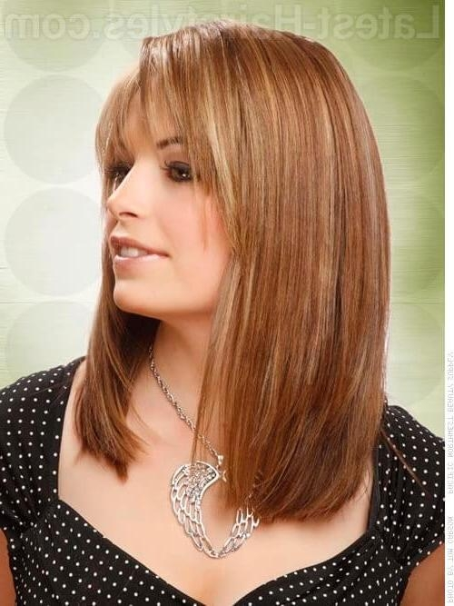 Featured Photo of Long Layered Bob Hairstyles With Bangs