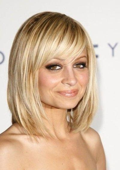 8 Best Haircut Images On Pinterest Within Fashionable Long Bob Hairstyles With Side Swept Bangs (View 3 of 15)