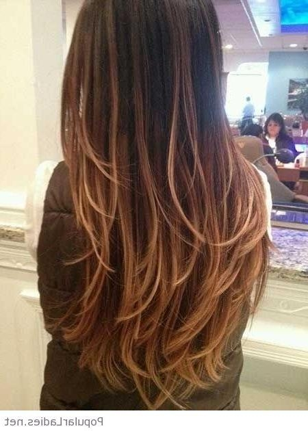 Amazing Long Hairstyles And Haircuts Inside Layered Long Hairstyles Back View (View 6 of 15)