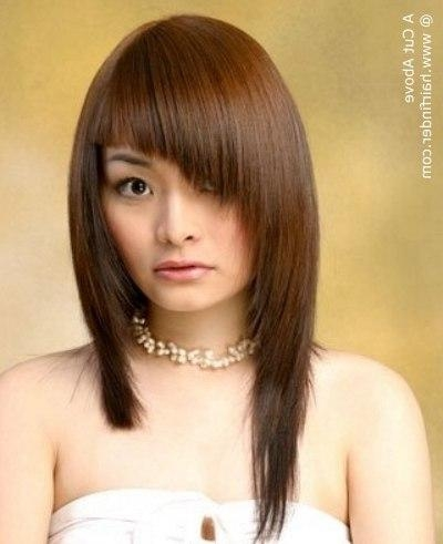 Asymmetrical Hairstyle For Asian Hair Pertaining To Asymmetrical Long Hairstyles (View 15 of 15)