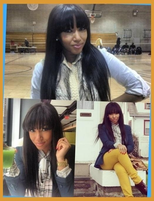 Bangs Long Hair On Pinterest | African Americans, Long Hairstyles Pertaining To African American Long Hairstyles With Bangs (View 6 of 15)