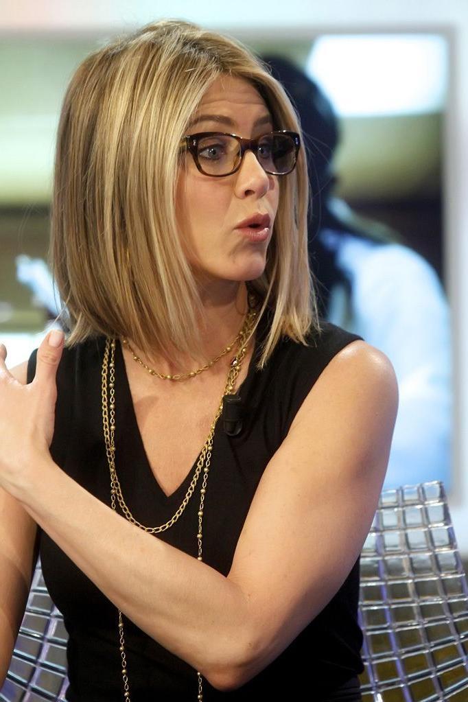 Photo Gallery Of Jennifer Aniston Long Layered Bob Hairstyles