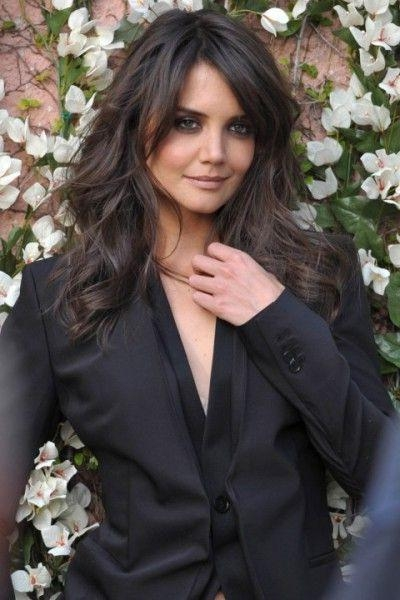 Best 25+ Katie Holmes Hairstyles Ideas On Pinterest | Long Fringe Intended For Katie Holmes Long Hairstyles (View 3 of 15)