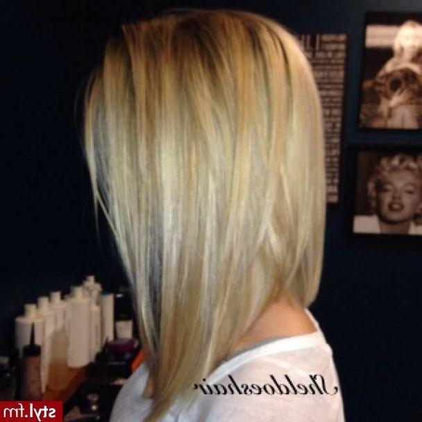 Best 25+ Long Angled Bob Hairstyles Ideas On Pinterest (View 4 of 15)