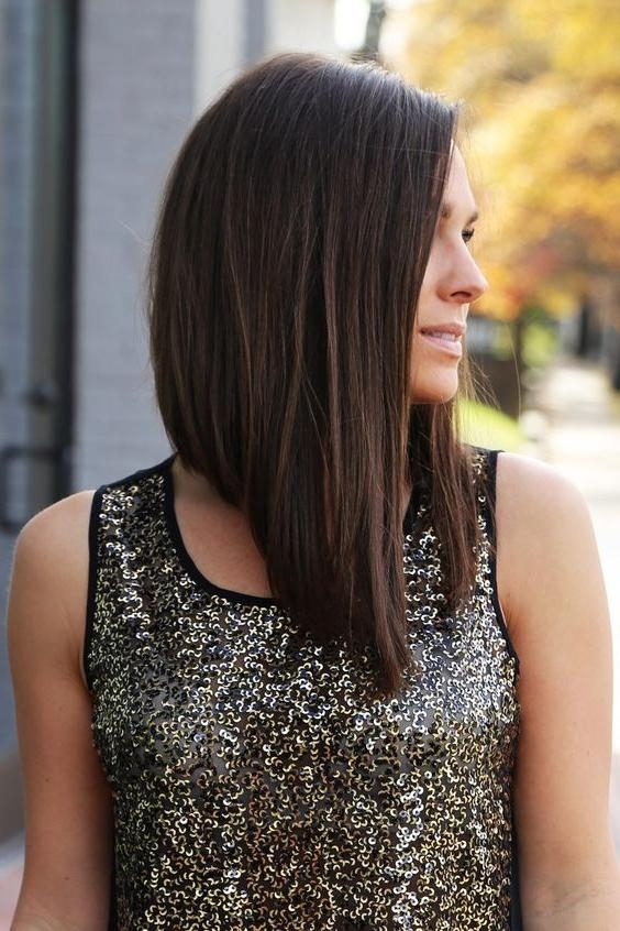 Best 25+ Long Angled Haircut Ideas On Pinterest | Long Angled Hair Throughout Angled Long Hairstyles (View 5 of 15)