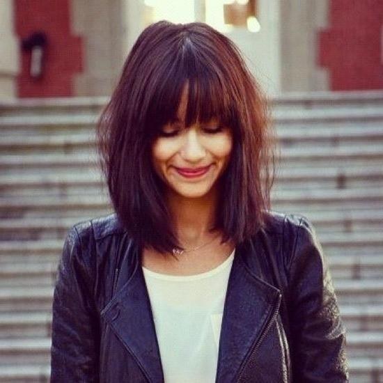 Best 25+ Long Bob With Fringe Ideas On Pinterest (View 5 of 15)
