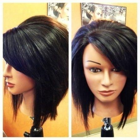 Featured Photo of Long Inverted Bob Haircuts With Bangs