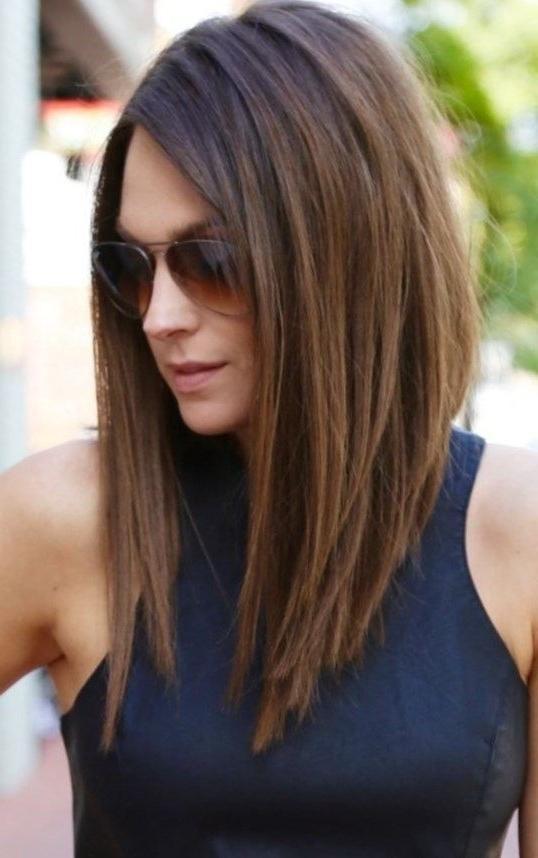 Best 25+ Medium Asymmetrical Hairstyles Ideas On Pinterest Inside Asymmetrical Long Hairstyles (View 10 of 15)