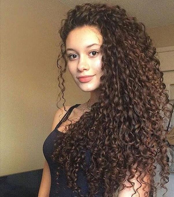 Photo Gallery Of Long Hairstyles For Naturally Curly Hair Viewing