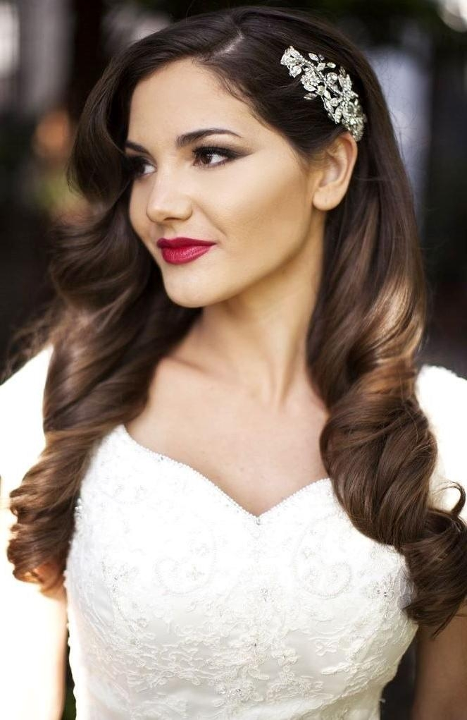 Best And Newest Long Hairstyles For Weddings Hair Down Pertaining To 10 Bridal Hairstyle Ideas For Fine Hair – Hair World Magazine (View 5 of 15)