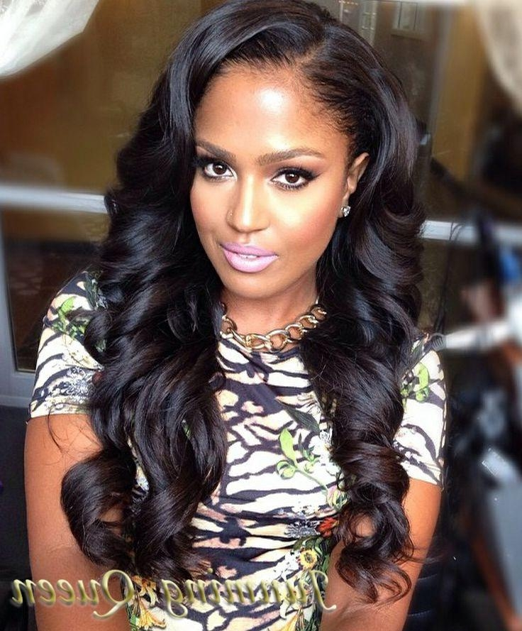 Best And Newest Long Hairstyles On Black Women Throughout Black Women Long Hairstyles – Worldbizdata (View 4 of 15)