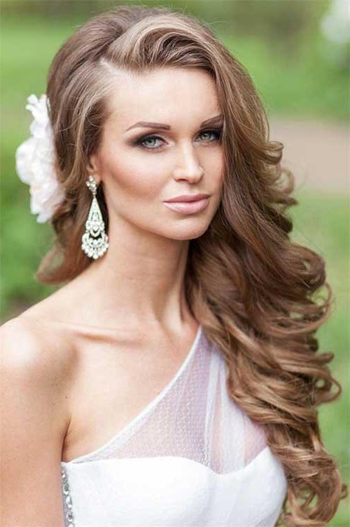 Best And Newest One Side Long Hairstyles Within 40+ Hairstyles For Wedding | Long Hairstyles 2017 & Long Haircuts (View 9 of 15)