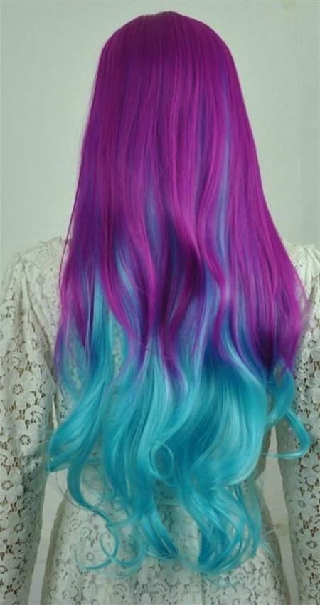 Best And Newest Purple Long Hairstyles Regarding 30 Hair Color Trends | Hairstyles & Haircuts 2016 –  (View 3 of 15)